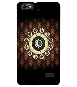 PrintDhaba Zodiac Wheel D-4806 Back Case Cover for HUAWEI HONOR 4C (Multi-Coloured)