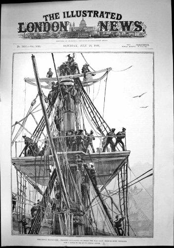 MarineManöver, die Vorgang An Bord Flaggen-Schiff Topmasts 1888 Löschen