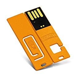 CustomUSB FoldIT USB Flash Drive 16GB Yellow
