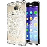 Samsung Galaxy A5 2016 Coque Protection de NICA, Housse Motif Silicone Portable Premium Case Cover Transparente, Ultra-Fine Souple Gel Slim Bumper Etui pour A5-16, Designs:Circle Flowers