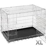 Leopet Transportbox Hundetransportbox Autobox Metall Gitterbox in verschiedenen Größen (S-XXL)