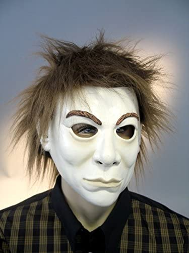 Adulte masque en en en latex avec les cheveux en peluche Fantom ac4819