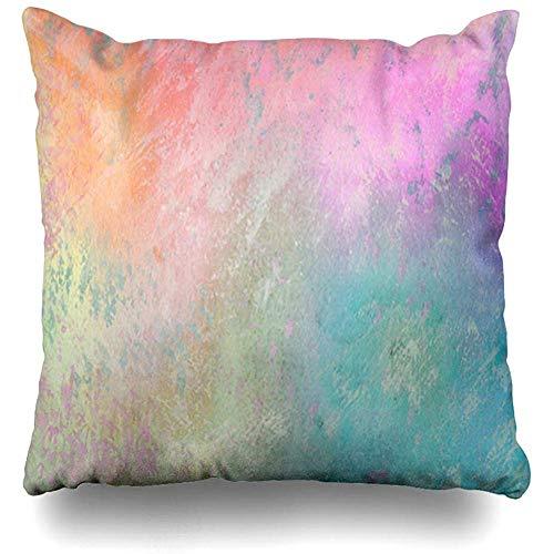 Dekokissenbezug Abstrakt Lila Hellblau Eis Lavendel Pfirsich Sorbet Regenbogen Waschung Lila Kissenbezug Platz (45 X 45 cm) Wohnkultur Kissenbezug -