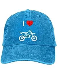 293cf4b79 Gorra de béisbol de algodón Ajustable Unisex Denim Gorra de Camionero I  Love Motocross Unisex30