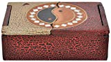 Joyero de madera de albesia ligero, pintado a mano, Buda o Yin & Yang, diseño: Yin Yang