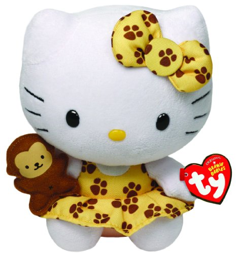 Hello Kitty - Safari Plush - TY Beanie - 15cm 6""