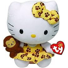 Hello Kitty - Peluche safari, 15 cm, color amarillo (TY 42088TY)