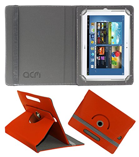 Acm Rotating 360° Leather Flip Case for Samsung Galaxy Note N8000 Cover Stand Orange  available at amazon for Rs.189