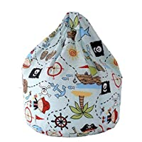 Cotton Blue Pirate Island Bean Bag Large Size