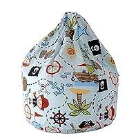 Cotton Blue Pirate Island Bean Bag Large Size