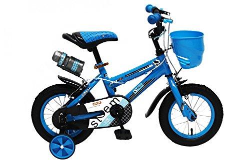 Kinderfahrrad 12 Zoll Kinder Fahrrad Spielrad Rad BMX blau STEM bike