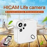 LILICATCaméra Cachée Spy Caméra Web Portable Sport DV Caméra avec Vision Nocturne et Détection de Mouvement pour Caméra de Surveillance de Sécurité,Mini IP WiFi HD1080P Vision Nocturne Caméra