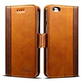 Rssviss Coque iPhone 6/6s Housse Etui en Cuir Flip Case pour iphone 6/6s [4...
