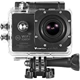 "Action Cam, icefox ® Wasserdichte Wi-Fi Action-Kamera, 12 MP, 1080 p, HD 2.0"" LCD, Taucherhelm, Sportwagen-Kamera mit kostenlosem Accessories-Kit (schwarz)"