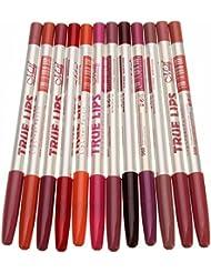 Lumanuby 12 Multicolore Couleurs Crayon Lèvres Waterproof à Lèvres Mat Lip Gloss Rouge à lèvres Liquid Foundation Lèvre Maquillage Lip Liner Maquillage Brillant à Lèvres Maquillage