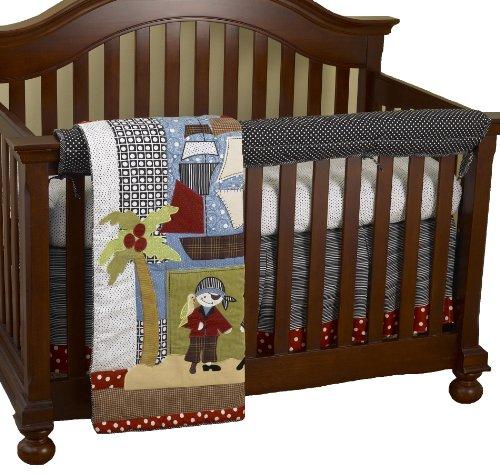 Cotton Tale Designs avant Crib Rail Cover Up Set, Pirates Cove par Cotton Tale Designs