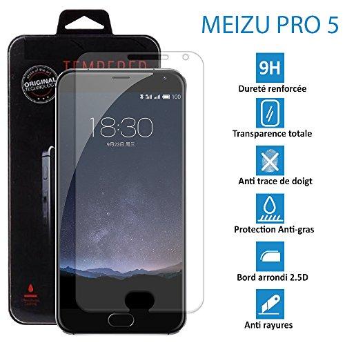 TOPACCS - Lot de 3 - MEIZU PRO 5 - Véritable vitre de protection écran en Verre trempé ultra résistante - Protection écran