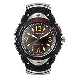 Hiwatch Jungen Sportuhr Analog Quarz Armbanduhr mit PU Armband- Schwarz