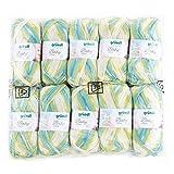 Gründl 3457-04Baby Color cotone, 70% poliacrilico, 30% poliammide, verde multicolor, 35x 32x 8cm, confezione da 10