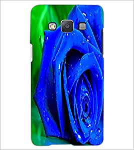 PrintDhaba Blue Rose D-1458 Back Case Cover for SAMSUNG GALAXY E5 (Multi-Coloured)