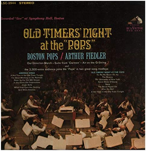 Old Timers' Night At The 'Pops' [Vinyl LP] Boston-timer