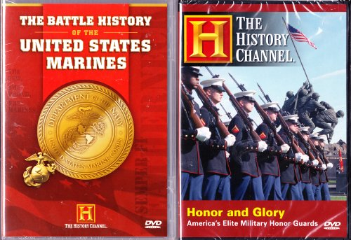 Bild von The Battle History Of The United Stated Marines , Honor and Glory - America's Elite Military Honor Guards : The History Channel Marine 2 Pack Collection