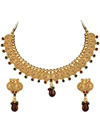 Sukkhi Royal Gold Plated Multicoloured Goddess Laxmi Necklace Set For Women