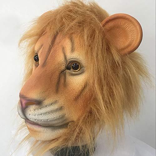 Latex Maske Halloween Rave Party Lion Lustige Maske Phantasie Ball Simulation Kopf Set Cosplay