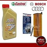 Castrol 8-Liter-Motor Öl EDGE 5W30 + Öl FILTER BOSCH AUDI A6 TDI 2,7 3,0 TDI (C6)