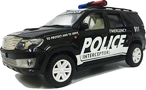 R & R Enterprises Police Fortuner Pull Along Car For Kids - Black