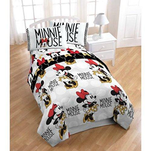 Neu. Disney Minnie Maus Twin Size Bed in a Bag Bettset 4-Teilig mit Bonus Shopper