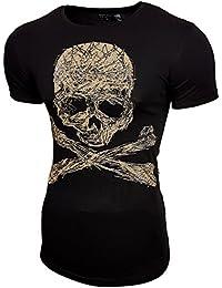 Rusty Neal Herren Rundhals T-Shirt Kurzarm Hemd Slim Fit Design Fashion 15122