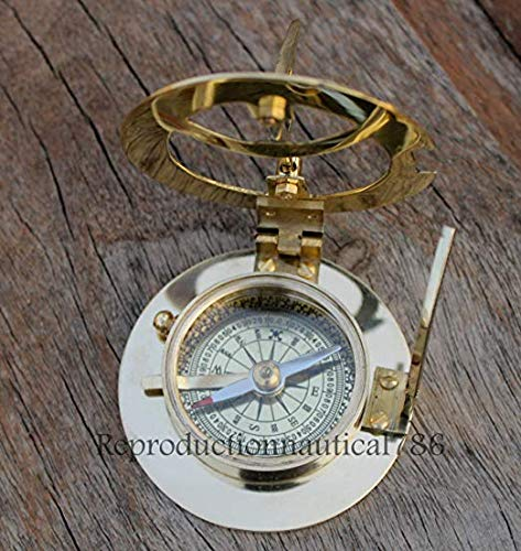 Solid Brass Compass Maritime Nautical Astrolabe Marine Ship Instrument Compass - Solid Brass