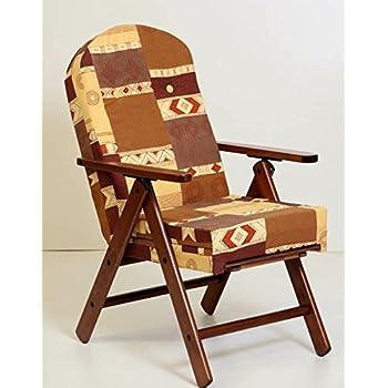 Poltrona sedia sdraio amalfi in legno reclinabile 4 for Poltrone cucina