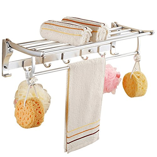 Space Aluminium Bad Handtuch Rack Handtuch Rack Bright Anhänger Bad Regal 60Cm