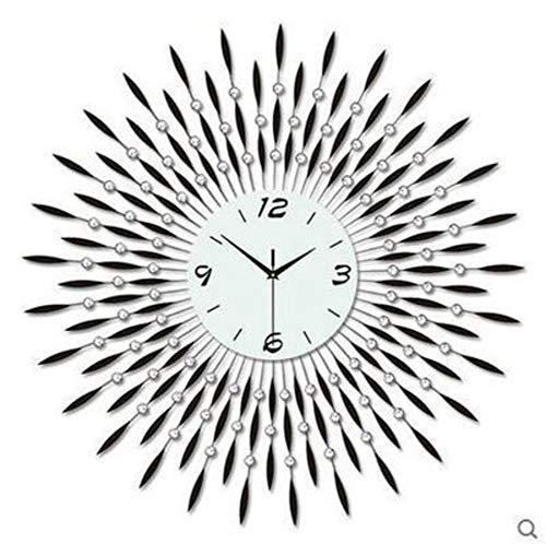 anduhr Hängen Lautlos Metal Uhren Wanduhr Kein Nerviges Ticken Quartz Wanduhr Römische Zahlen Für Wohnzimmer Schlafzimmer Hotel-restaurant Cafe Loft Bar-e 70x70cm(28x28inch) ()