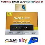 Digiquest Nagra Box Combo decoder Ufficiale per Mediaset Premium/SKY Terrestre e Tivusat