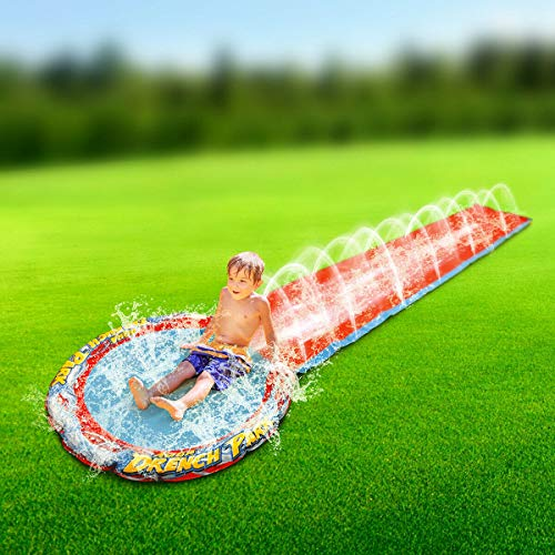 Rexco Children Soak N Splash 16' Aqua Garden Water Slide Spray Sprinkler Pool Toy, Multi Colour