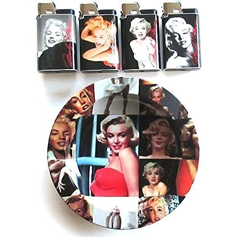 Marilyn Monroe djeep Lighter Posacenere Combo