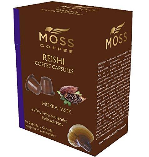 Moss Coffee 10 Cápsulas compatibles Nespresso* con polvo puro de Reishi -MOKKA