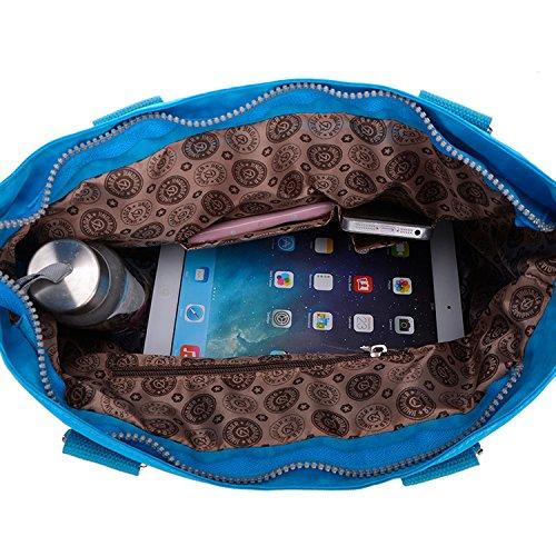 Outreo Sacchetto Donna Borse Mare Borsa Tracolla Borse a Spalla Ragazza Messenger Bag Sport Borsetta Griffate Borsello Impermeabile per Scuola Nylon Blu One