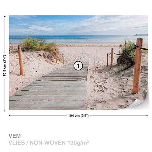 weg-strand-sand-natur-fototapete-wandbild-fototapeten-bild-tapete-vlies-easyinstall-1998ws