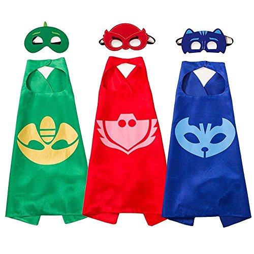 sken Kostüme und Kleid bis für Kinder–Cape und Masken für Super Hero Girl (3) (Hund Superhelden Cape)