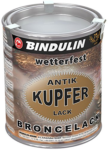 Bindulin Kupferlack wetterfest antik Metallfarbe (750 ml)