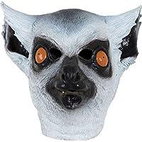 Xdevrbk Unisex Mouth Mask Lifelike Lemur Painting