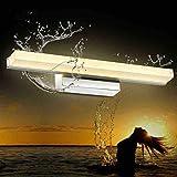 NHX Spiegellampen Moderne Kreative Edelstahl-Kabinett-Wandlampe Schlafzimmer-Badezimmer-einfache Acrylkleiderspiegel-Scheinwerfer,Whitelight-31.49in