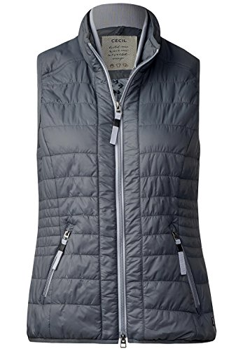 CECIL Damen Leichte Steppweste graphit light grey XXL