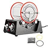 Ambesten Poliermaschinen Jewelry Polisher Tumbler 3Kg Capacity Mini Rotary Tumbler Machine with...