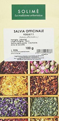 Salvia Officinale Foglie Taglio Tisana - 100 g - Prodotto made in Italy