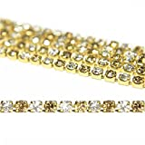 Jewellery Making Stone Chain For Silk Thread Jewelry Making, 2MM, 5 Mtr, Gold & Silver Color